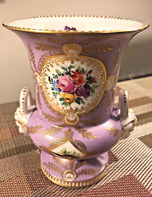 Beautiful Sevres Bisque Enameled Urn Shaped Vase. Hand Painted 18th Century