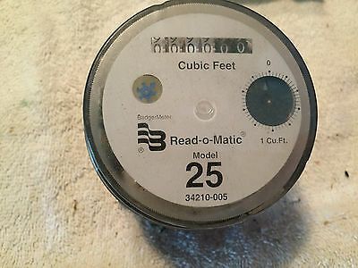 "New Model25 M25 Register 5/8"" Badger Water Meter Read-O- Matic Head Cubic Feet '"