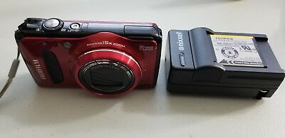 Fujifilm FinePix F Series F500EXR 16.0MP Digital Camera - Red