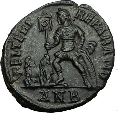 CONSTANTIUS II w Captives 348AD Antioch Authentic Ancient Roman Coin i65538