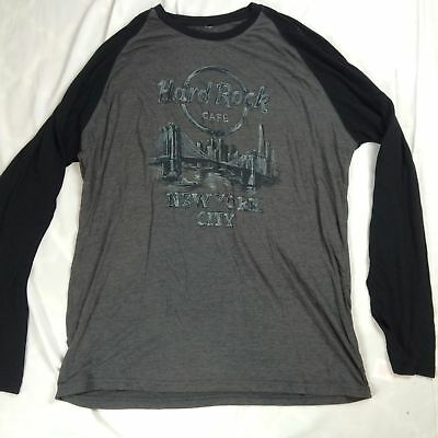 Mens XXL Hard Rock Cafe T Shirt Long Sleeve Limited Edition New York City Cotton