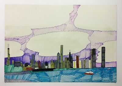 Wesley Willis Original Drawing