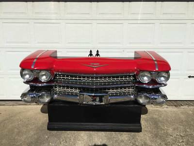 1959 Cadillac Bar, Desk, Metal WORKING LIGHTS! RARE, Unique! Like car couch sofa