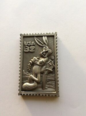 Bugs Bunny Rare Pewter Stamp Replica Post Office Colection