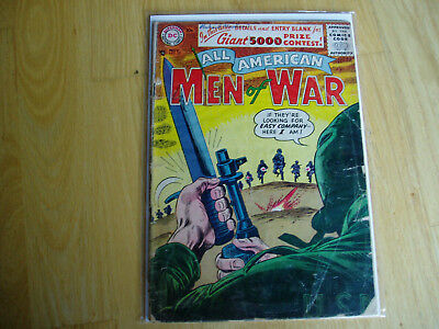 All American Men of War 39 DC Comic Nov 1956 Key Issue BV $57.00 Combat Battle