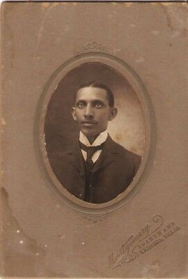 African American Gentleman Cabinet Card from Yoakum and Victoria Texas
