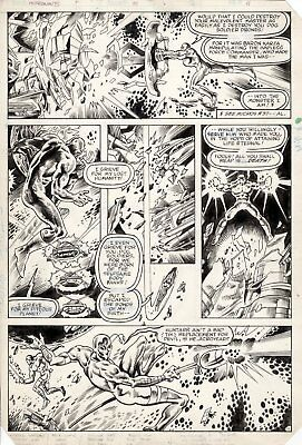 BUTCH GUICE & MIKE MIGNOLA - Micronauts #51 pg 11, Bug watches Huntarr go wild