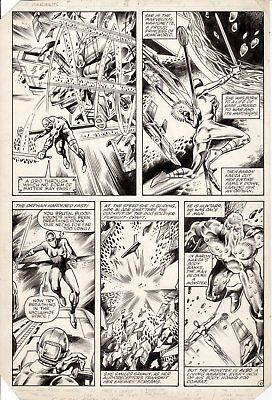 BUTCH GUICE & MIKE MIGNOLA -Micronauts #51 pg 10, Marionette and Huntar