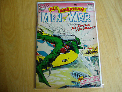 All American Men of War 44 DC Comic Apr 1957 Key Issue BV $52.50 Combat Battle