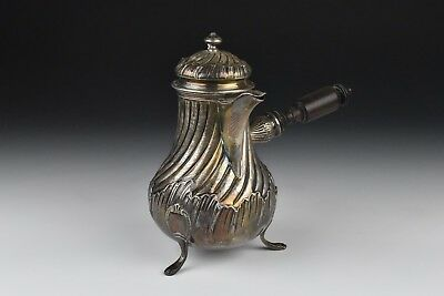 Antique French Sterling Silver Side Handle Pot Fray Fils of Paris 1875-1891