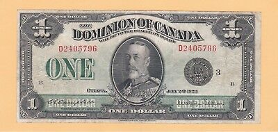 1923 $1.00 DOMINION OF CANADA in VF condition
