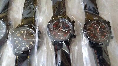 GT Grand Touring Sports Watches- Bulk Lot of 100 6 colors.