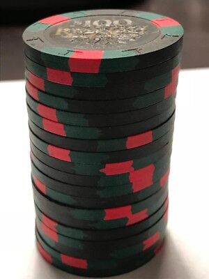 qty 19 - Paulson Poker Chips - River City New Orleans $100 Chips Mint Condition