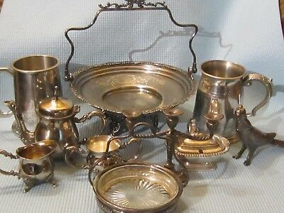 Mixed Lot of 10 Vintage Silverplate Items.