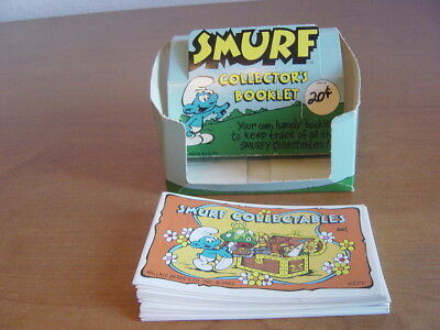 1982 Smurf Collectors Booklet Dealers Display box + 12 Booklets. Schleich Peyo.