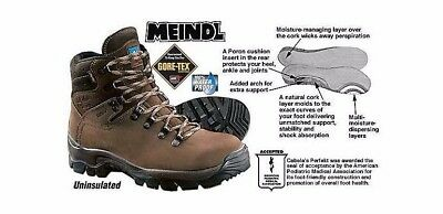 Cabela's by Meindl Perfekt Hiking Boot Men's Size 12 D Brown Leather