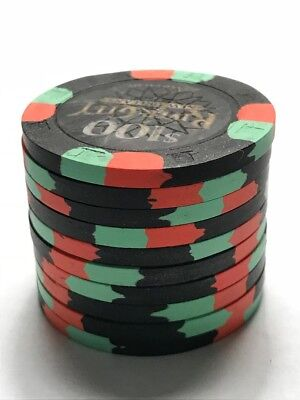 qty 10 - Paulson Poker Chips - River City New Orleans $100 Chips Mint Condition