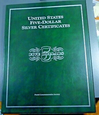 Five-Dollar Silver Certificate Folio $5 Currency Collection Postal Commemorative