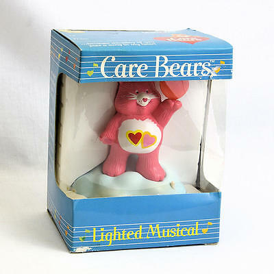 Vintage 1984 American Greetings Care Bears Lighted Musical Love a Lot Bear