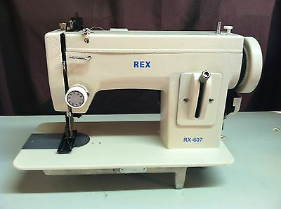 Rex 607 leather Portable Upholstery Walkingfoot heavy duty Sewing Machine