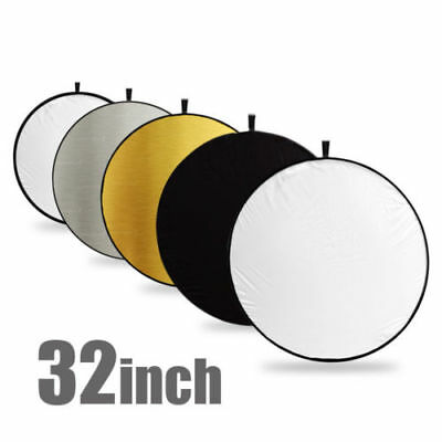 """80CM 32"""" 5-in-1 Photography Studio Collapsible Multi Disc Photo Light Reflectors"""