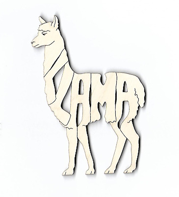 Llama laser cut and engraved wood Magnet