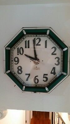 Art Deco Electric 8 sided neon clock
