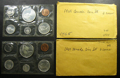 Lot of (2) 1965 Canada Mint Sets