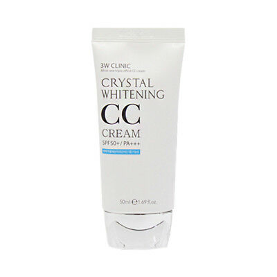 [3W CLINIC] Crystal Whitening CC Cream - 50ml (SPF50+ PA+++) ROSEAU