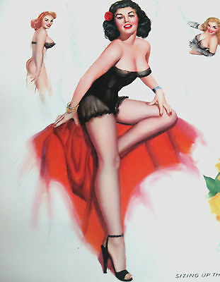 Thompson April 1959 18'' Pinup Calendar Page 'sizing Up The Situation'