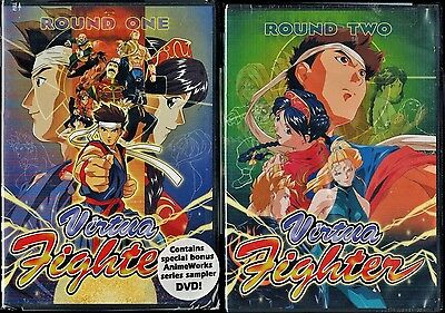 Virtua Fighter Complete Series Collection Round 1 + 2 New 4 DVD Anime Set