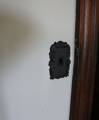 Cast Iron Single Light Switch Plate Cover includes screws Antique Vintage Design