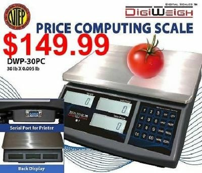 DWP-30PC 30 Lbs Price Computing Scale NTEP Legal For Trade Certified