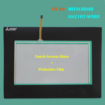 for MITSUBISHI GS2107-WTBD,GS2107WTBD Touch Panel Glass with Protective Film New