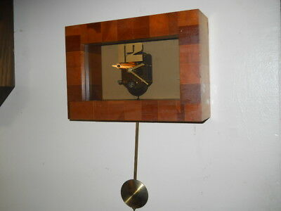 Mid Century Modern Art Clock- 8 Day See-Thru, The 1984 Company, German Movement