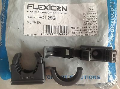 Adaptaflex Flexicon Kopex Flexible Conduit Clips FCL25G, Qty10, Free P&P UK