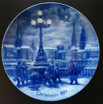 Berlin Design Christmas 1977 Christmas Eve in Hamburg Plate W Germany Limited