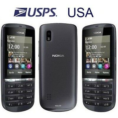 USA Seller! Nokia Asha 300 Unlocked 3G 5.0MP Single Core Touch & Type Cell Phone