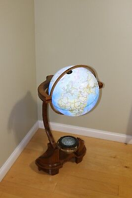 Custom Globe Stand with LED lighted Globe