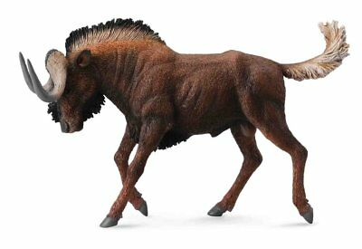 CollectA Wildlife Black Wildebeest Toy Figure - Authentic Hand Painted Model