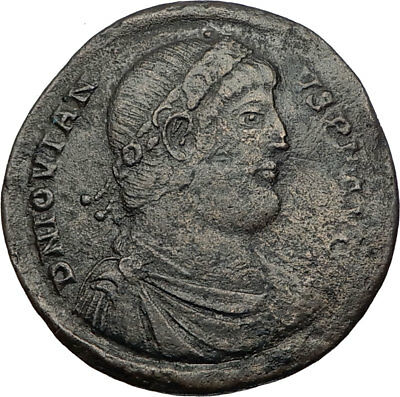 JOVIAN Rare Large AE1 363AD Constantinople Authentic Ancient Roman Coin i65553