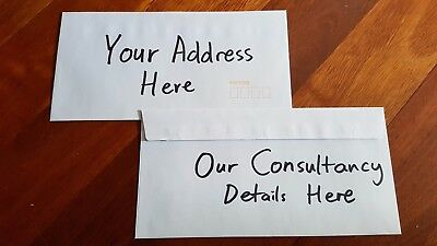 Envelope with > Consultant contact information < Sent directly to you.