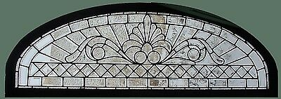 Antique American Arched Beveled Transom in Zinc Came