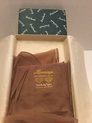 Vtg Mannings Seamed Stockings Cuban Heel Boxed With Tissue Paper