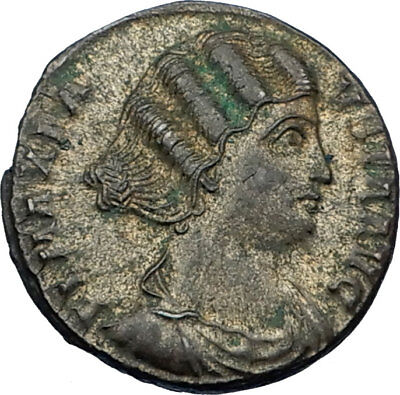 FAUSTA - CONSTANTINE I the GREAT Wife 326AD Authentic Ancient Roman Coin i65556