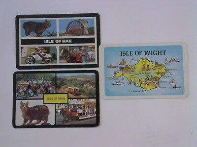 3 Single Swap/Playing Cards - Assorted Isle of Man, Isle of Wight#