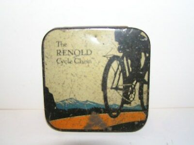VINTAGE   RENOLD  CYCLE  CHAIN  TIN.     1930-40's.