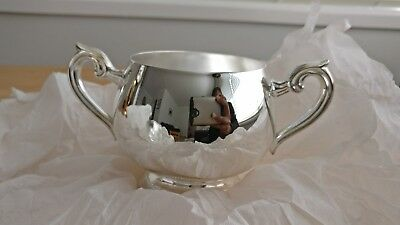 Whitehill silver plated tea set with gadroon tray