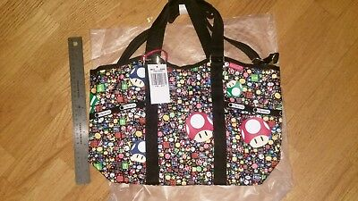 9863c87e4c56 LeSportsac Nintendo Super Mario Power Up Burst Small Carryall Bag NWT Sold  Out
