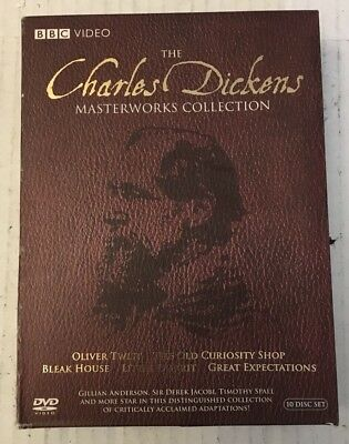 The Charles Dickens Master Works Movie Collection BBC Video 10 Disk DVD Set